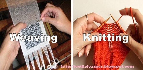 Image result for weaving vs knitting